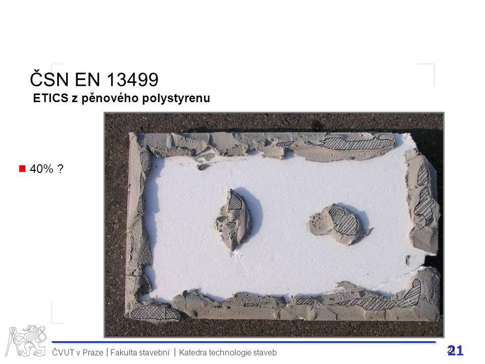 ČSN EN 13499 ETICS z pěnového polystyrenu