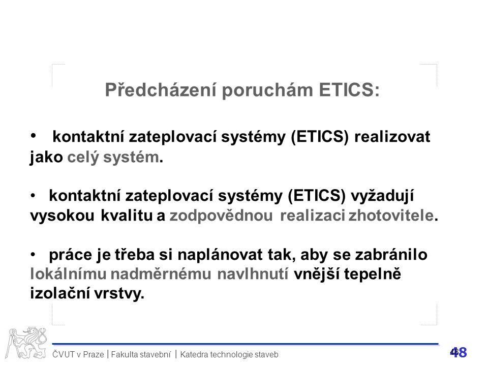 Předcházení poruchám ETICS: