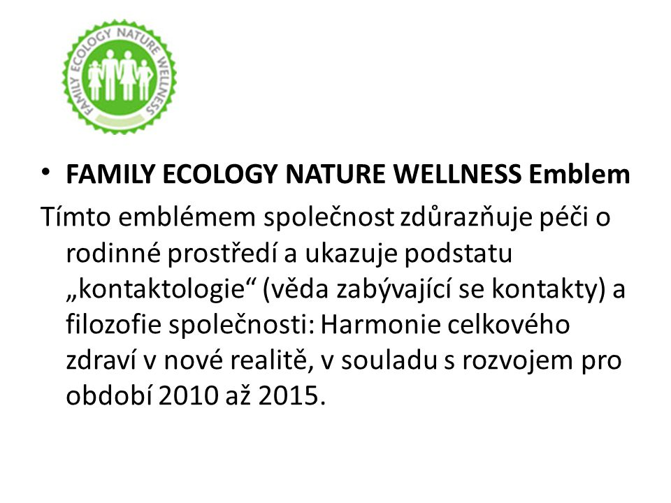 FAMILY ECOLOGY NATURE WELLNESS Emblem