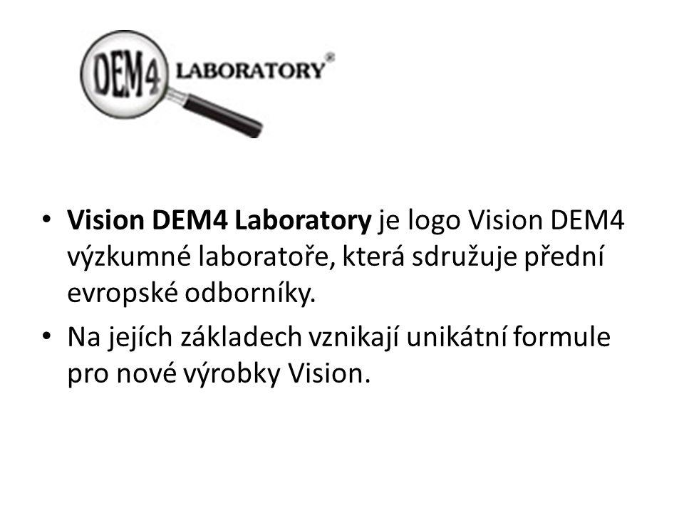 Vision DEM4 Laboratory je logo Vision DEM4 výzkumné laboratoře, která sdružuje přední evropské odborníky.