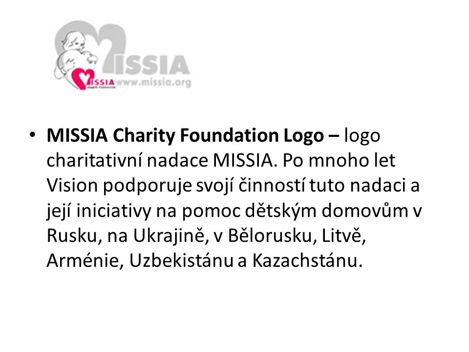 MISSIA Charity Foundation Logo – logo charitativní nadace MISSIA
