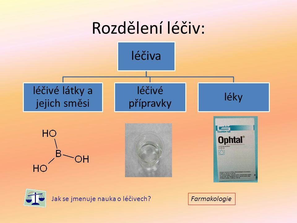 léčivé látky a jejich směsi