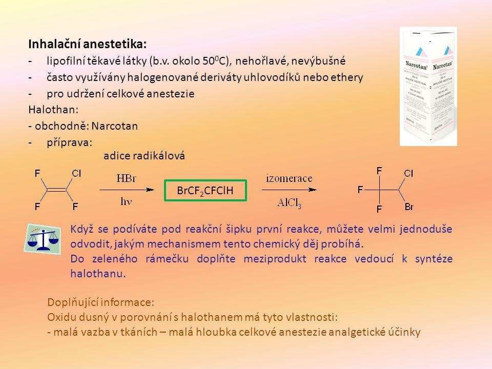 Inhalační anestetika: