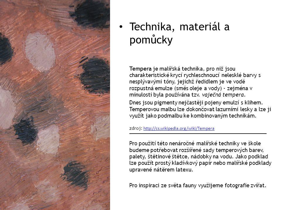 Technika, materiál a pomůcky