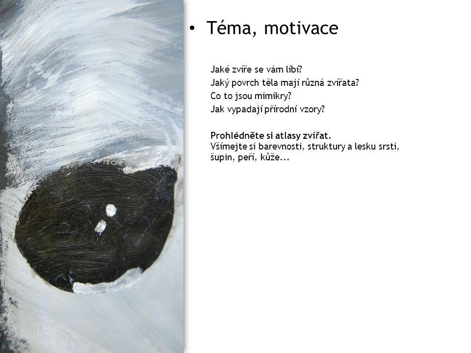 Téma, motivace Jaké zvíře se vám líbí