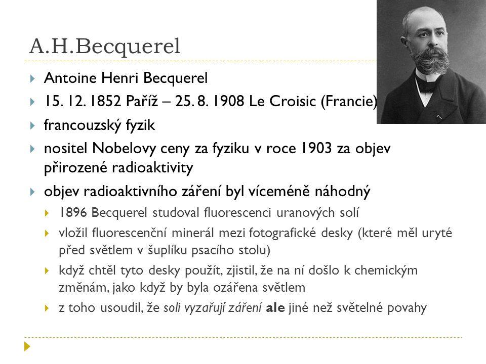 A.H.Becquerel Antoine Henri Becquerel