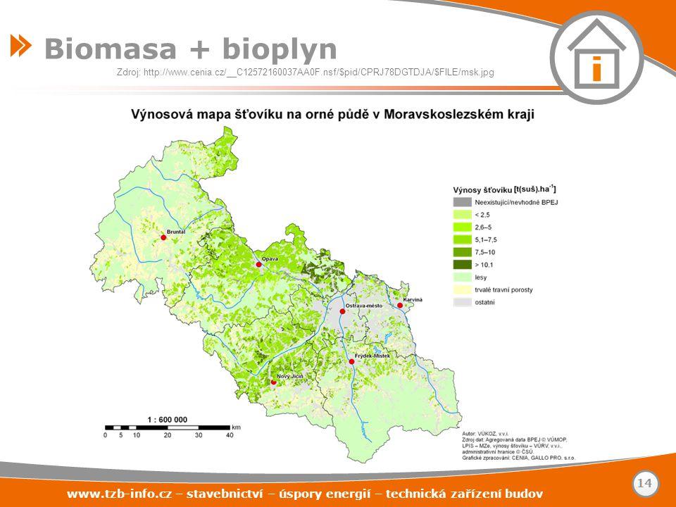 Biomasa + bioplyn Zdroj: http://www.cenia.cz/__C12572160037AA0F.nsf/$pid/CPRJ78DGTDJA/$FILE/msk.jpg.
