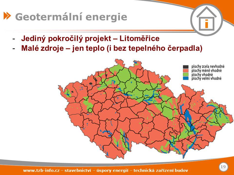 Geotermální energie Jediný pokročilý projekt – Litoměřice