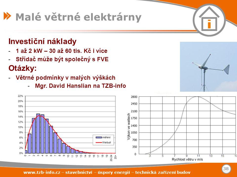 Malé větrné elektrárny