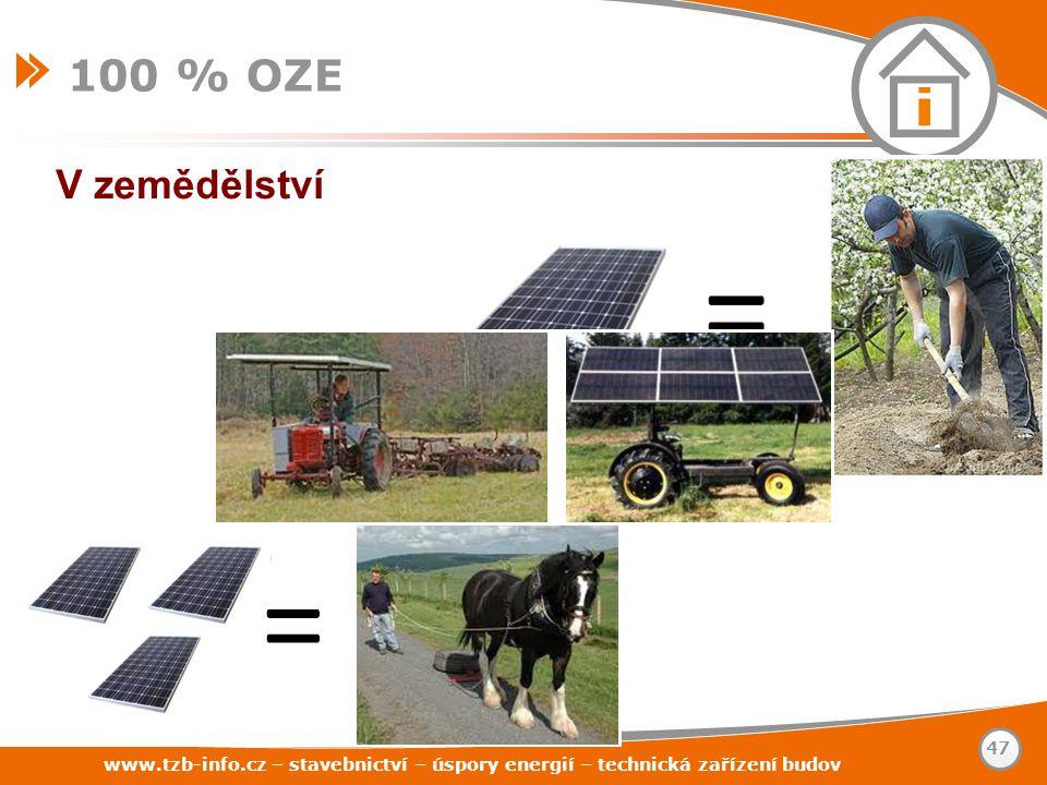 100 % OZE V zemědělství. www.tzb-info.cz – stavebnictví – úspory energií – technická zařízení budov.
