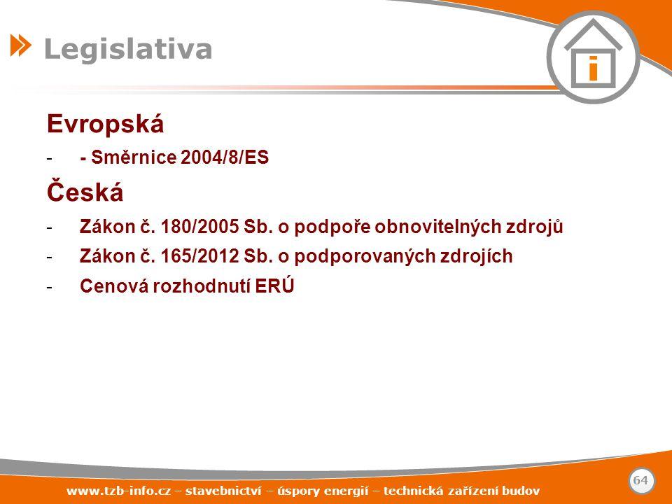 Legislativa Evropská Česká - Směrnice 2004/8/ES