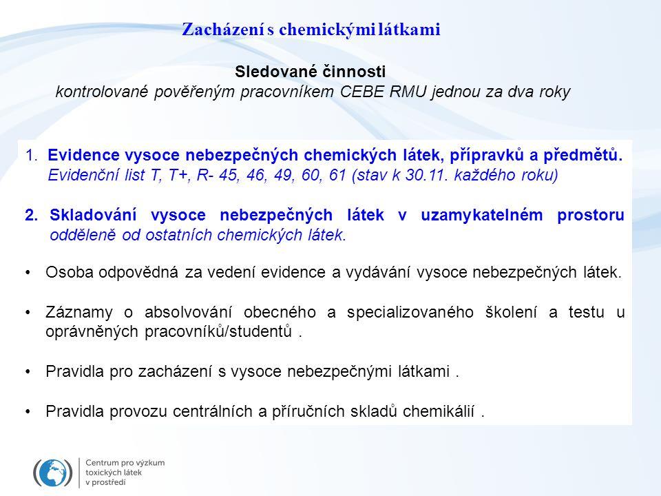 Zacházení s chemickými látkami