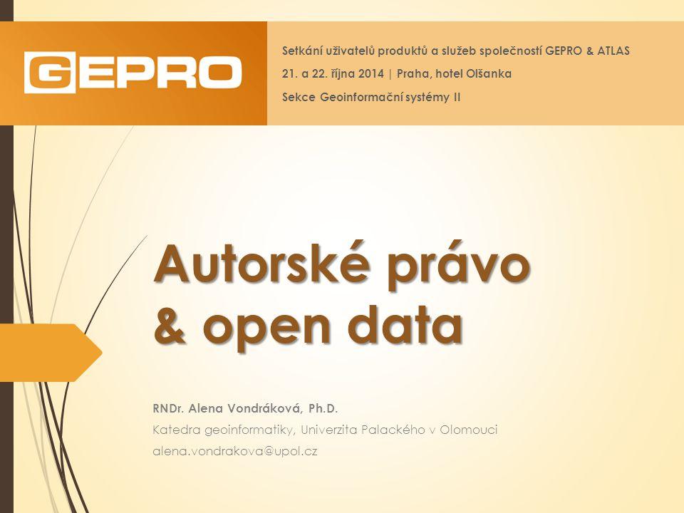 Autorské právo & open data