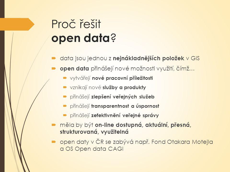 Proč řešit open data data jsou jednou z nejnákladnějších položek v GIS. open data přinášejí nové možnosti využití, čímž…