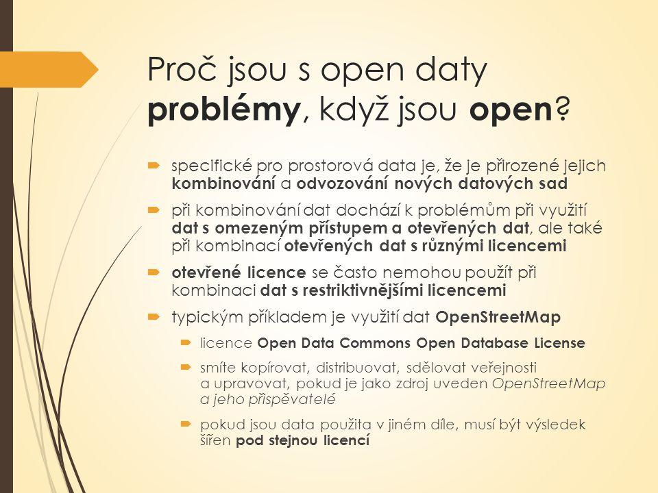 Proč jsou s open daty problémy, když jsou open