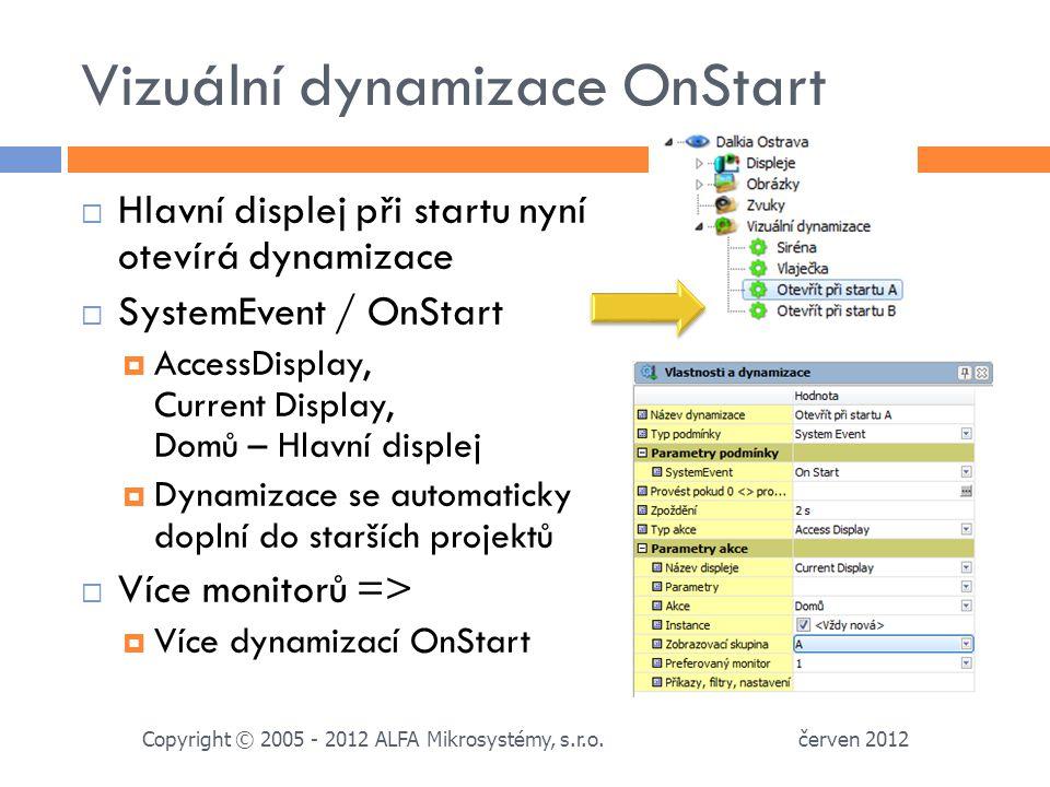 Vizuální dynamizace OnStart