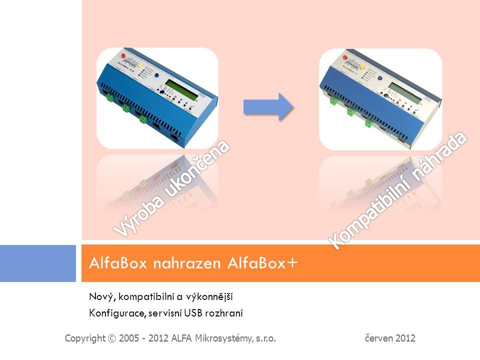AlfaBox nahrazen AlfaBox+