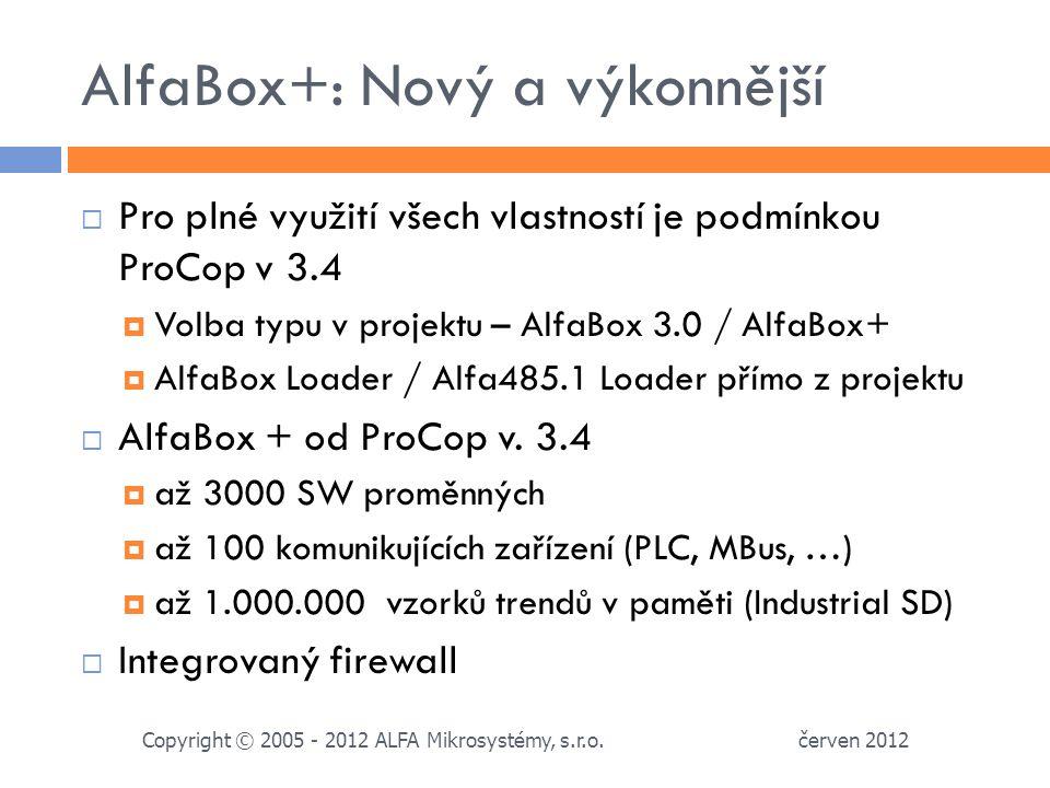 AlfaBox+: Nový a výkonnější