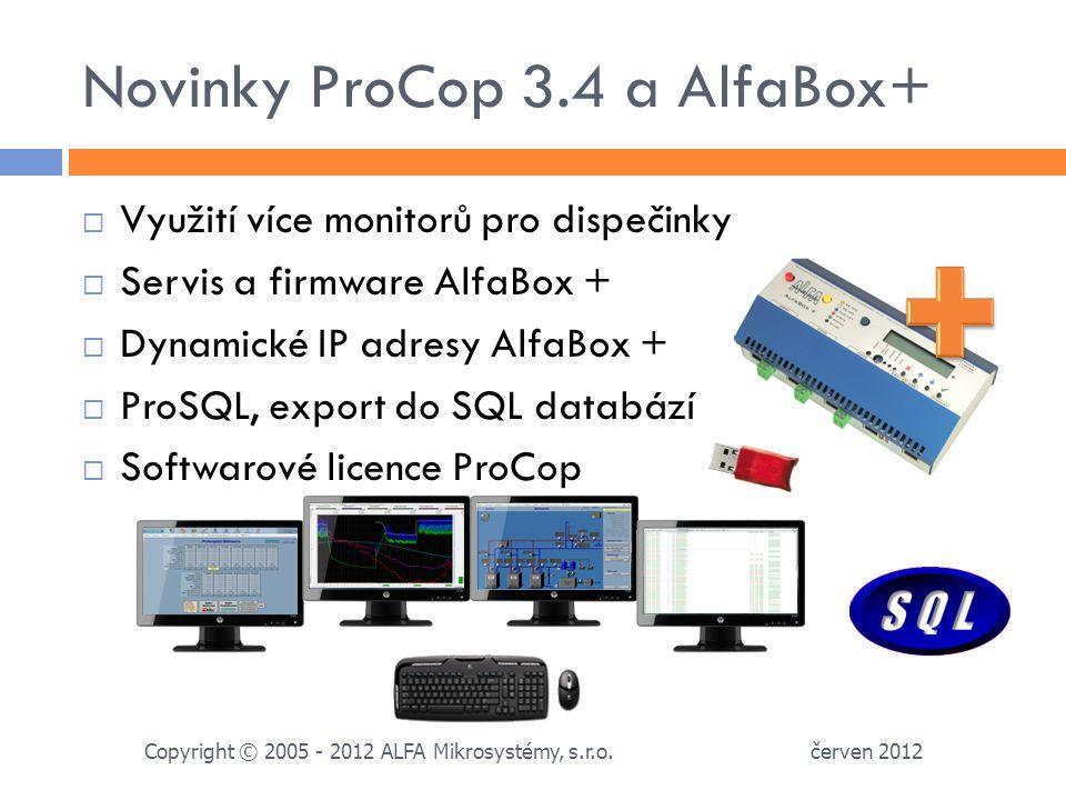 Novinky ProCop 3.4 a AlfaBox+