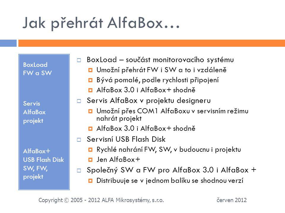 Jak přehrát AlfaBox… BoxLoad – součást monitorovacího systému