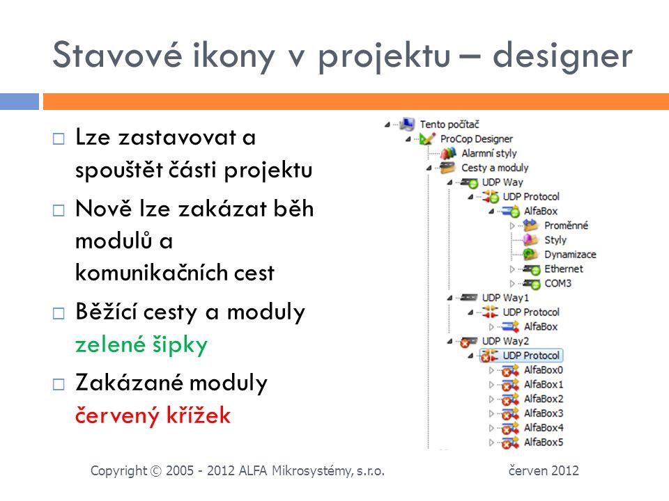 Stavové ikony v projektu – designer
