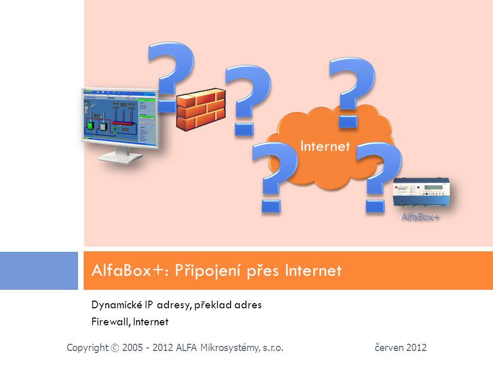 AlfaBox+: Připojení přes Internet