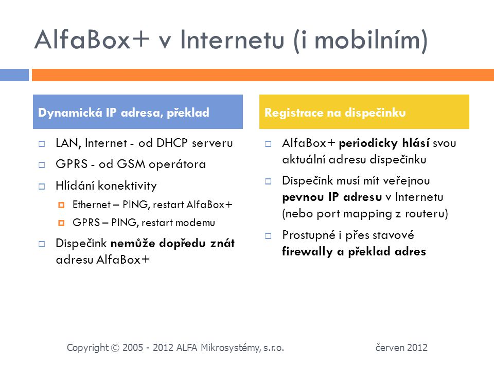 AlfaBox+ v Internetu (i mobilním)