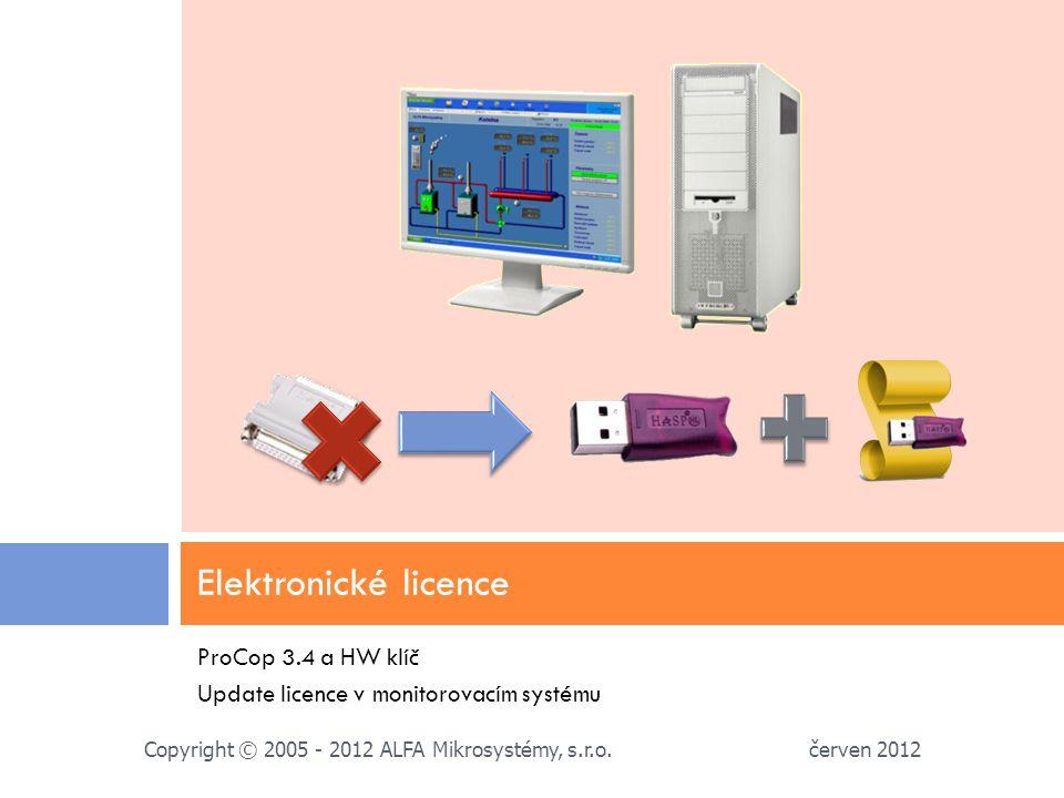 Elektronické licence ProCop 3.4 a HW klíč