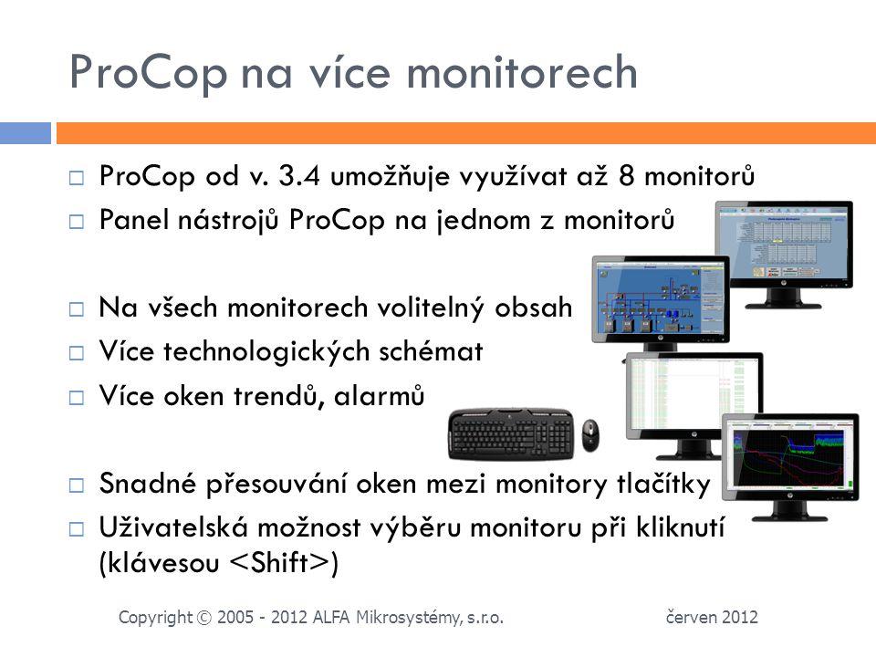 ProCop na více monitorech