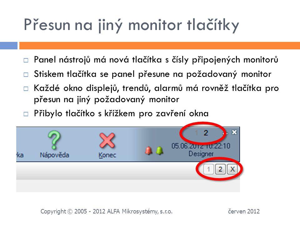 Přesun na jiný monitor tlačítky