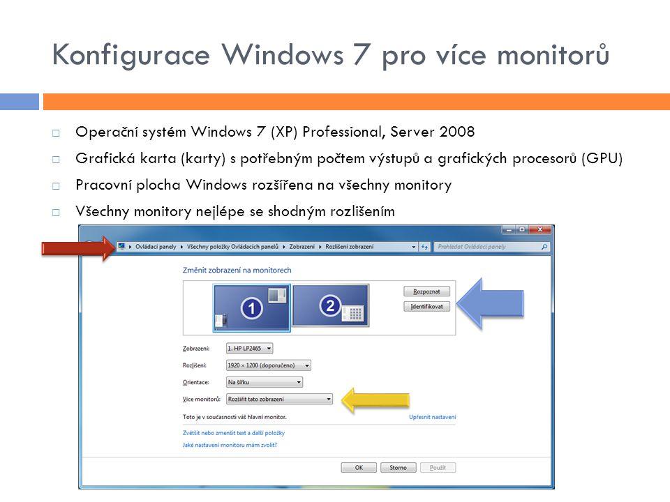 Konfigurace Windows 7 pro více monitorů
