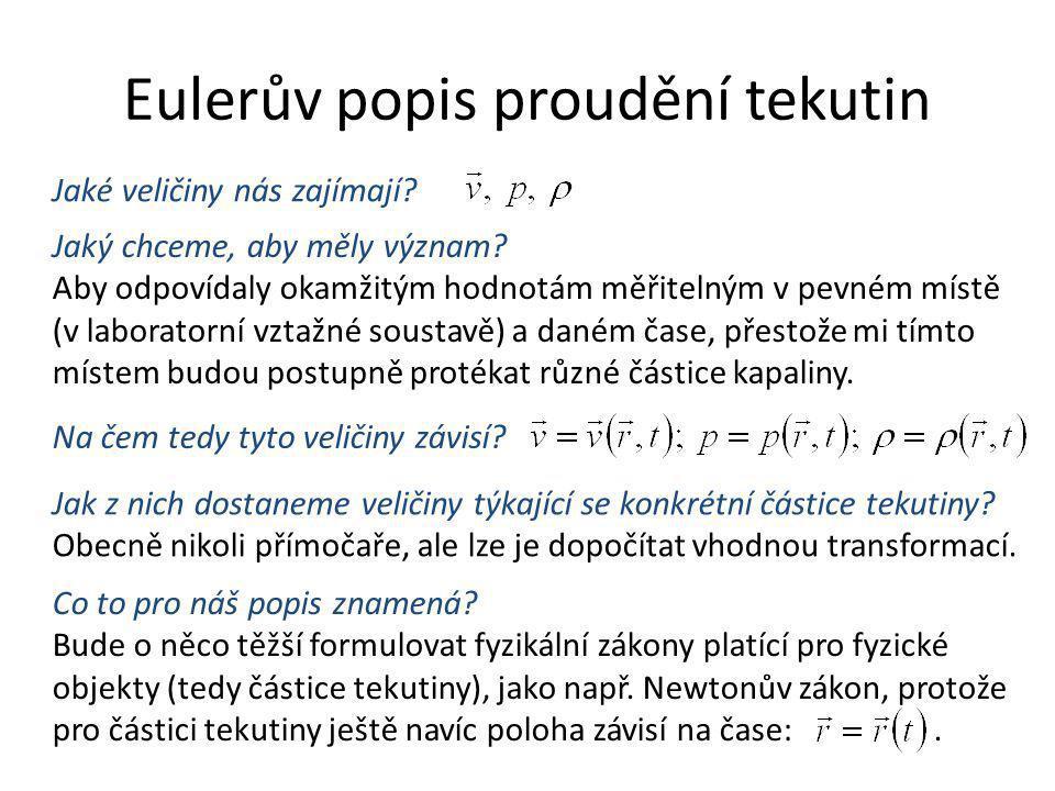 Eulerův popis proudění tekutin
