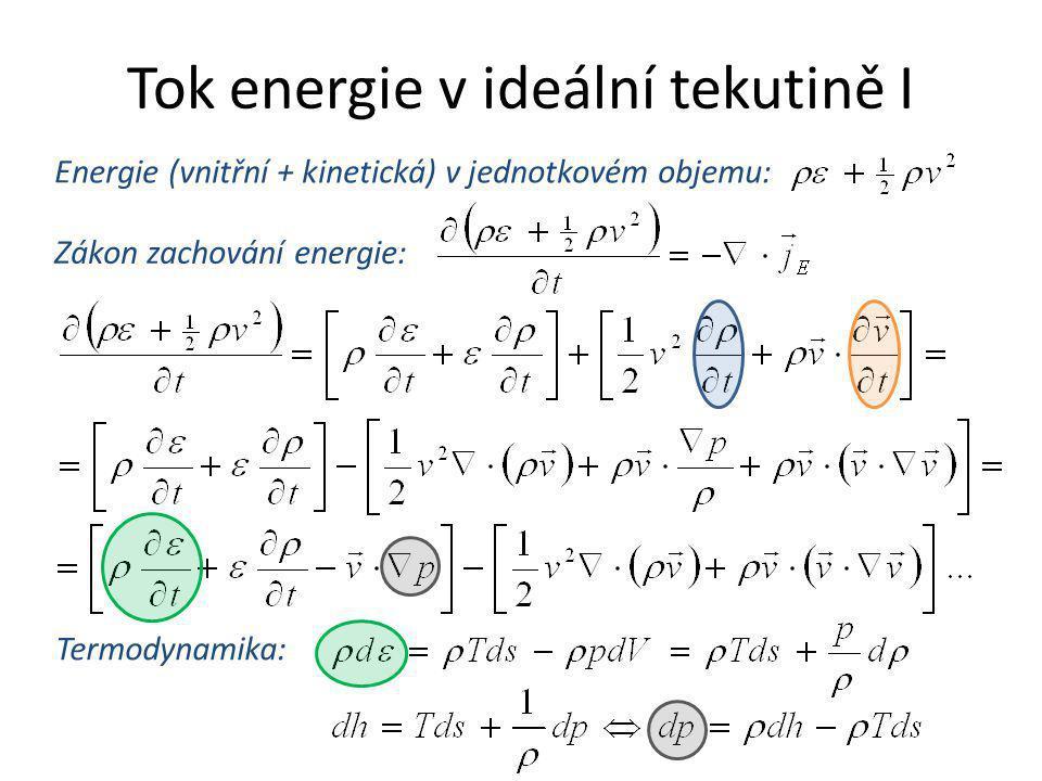 Tok energie v ideální tekutině I