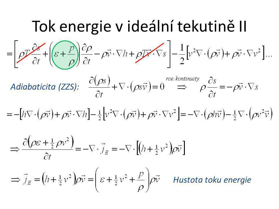 Tok energie v ideální tekutině II