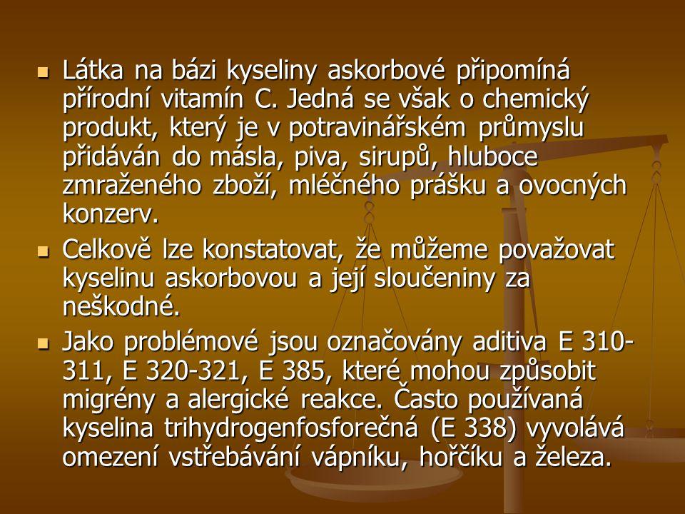 Látka na bázi kyseliny askorbové připomíná přírodní vitamín C