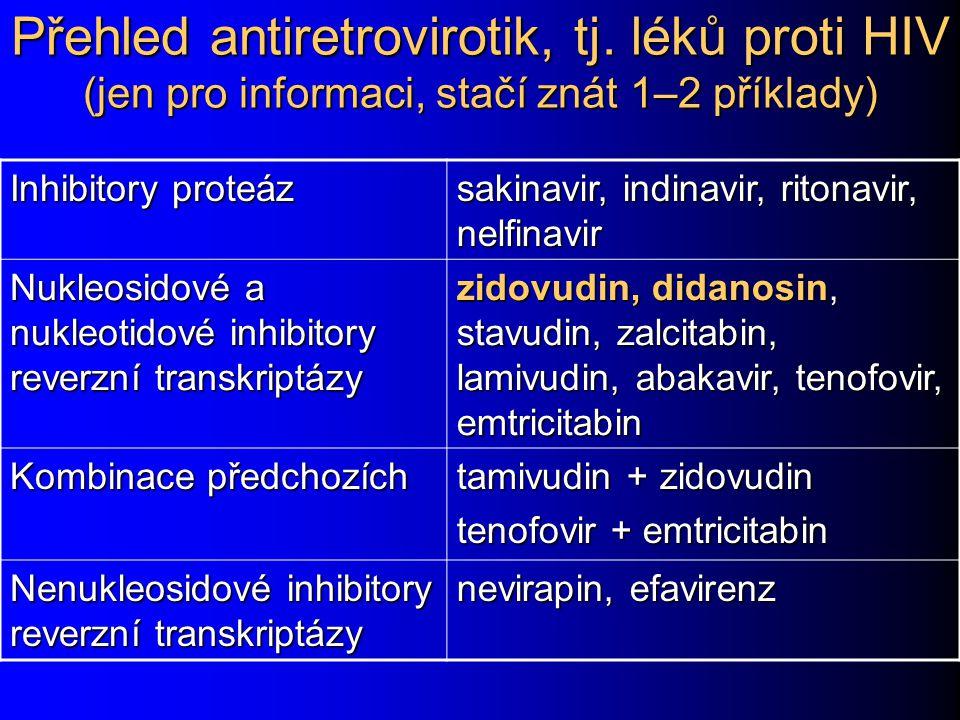 Přehled antiretrovirotik, tj
