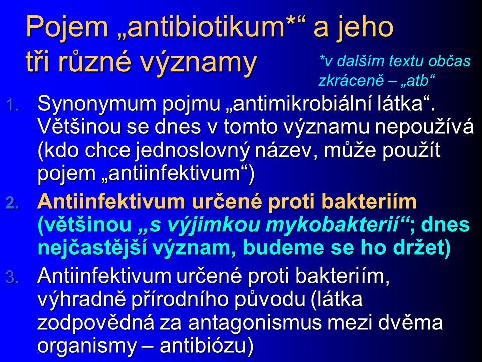 """Pojem """"antibiotikum* a jeho tři různé významy"""