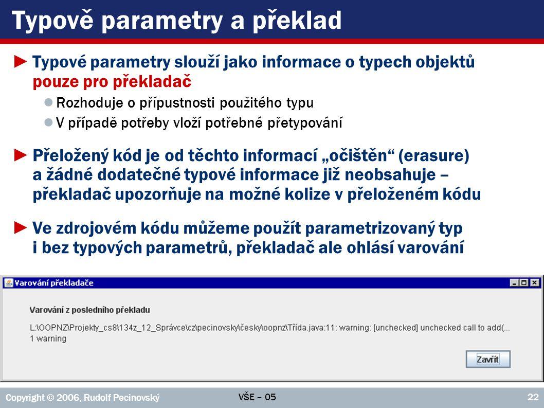 Typově parametry a překlad