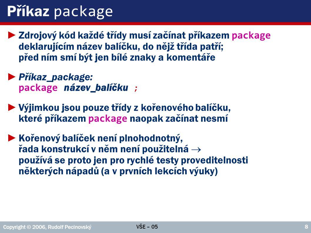 Příkaz package