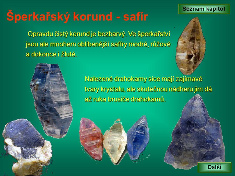 Šperkařský korund - safír