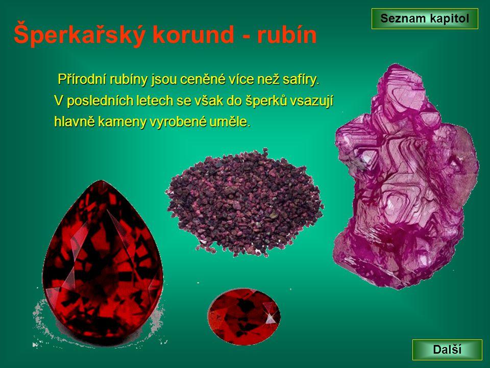 Šperkařský korund - rubín