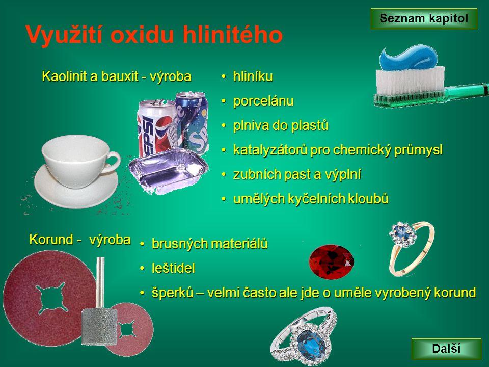 Využití oxidu hlinitého