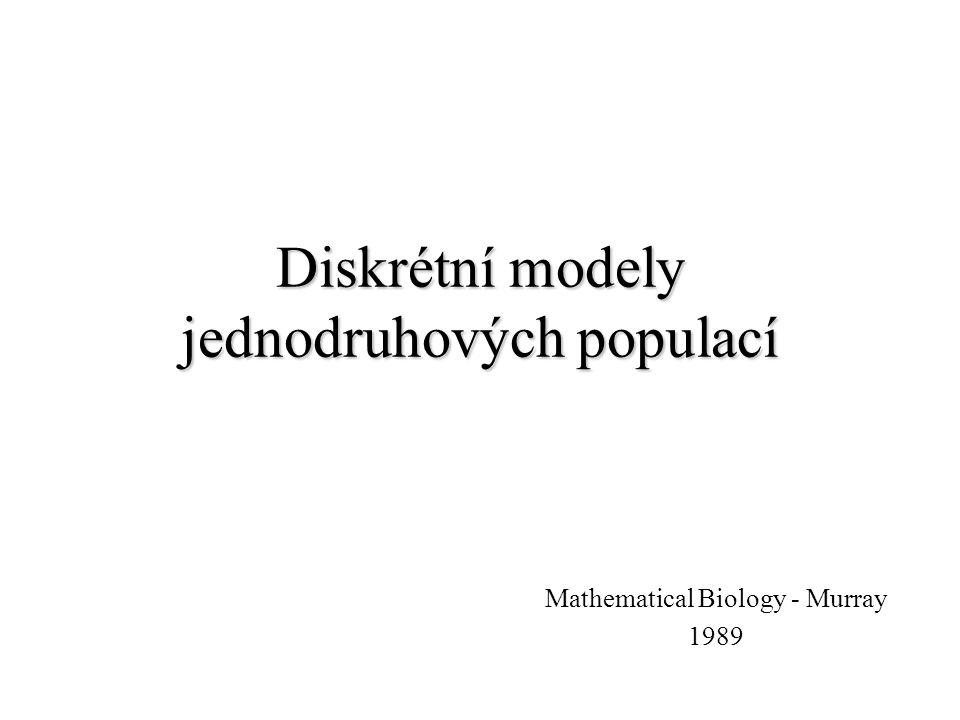 Diskrétní modely jednodruhových populací