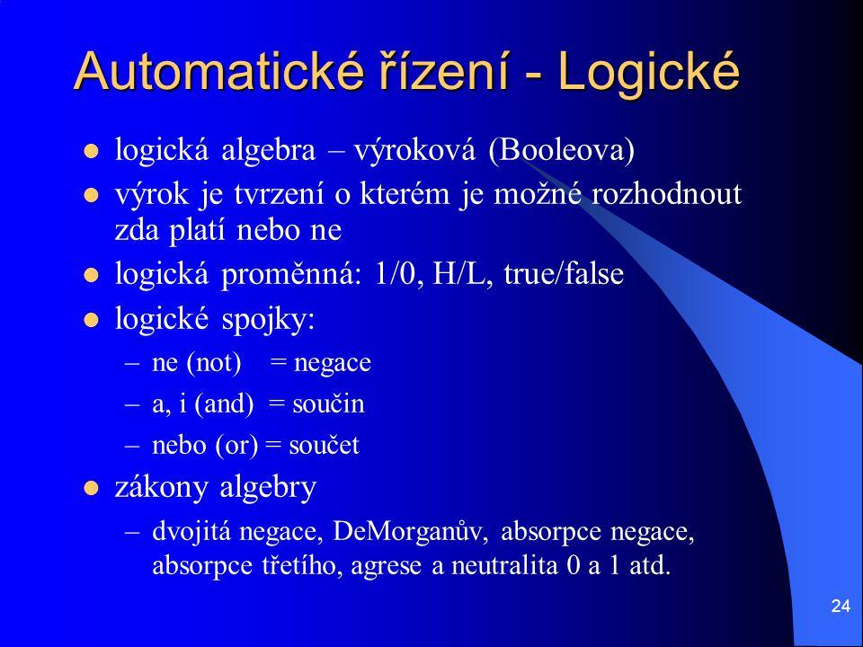 Automatické řízení - Logické