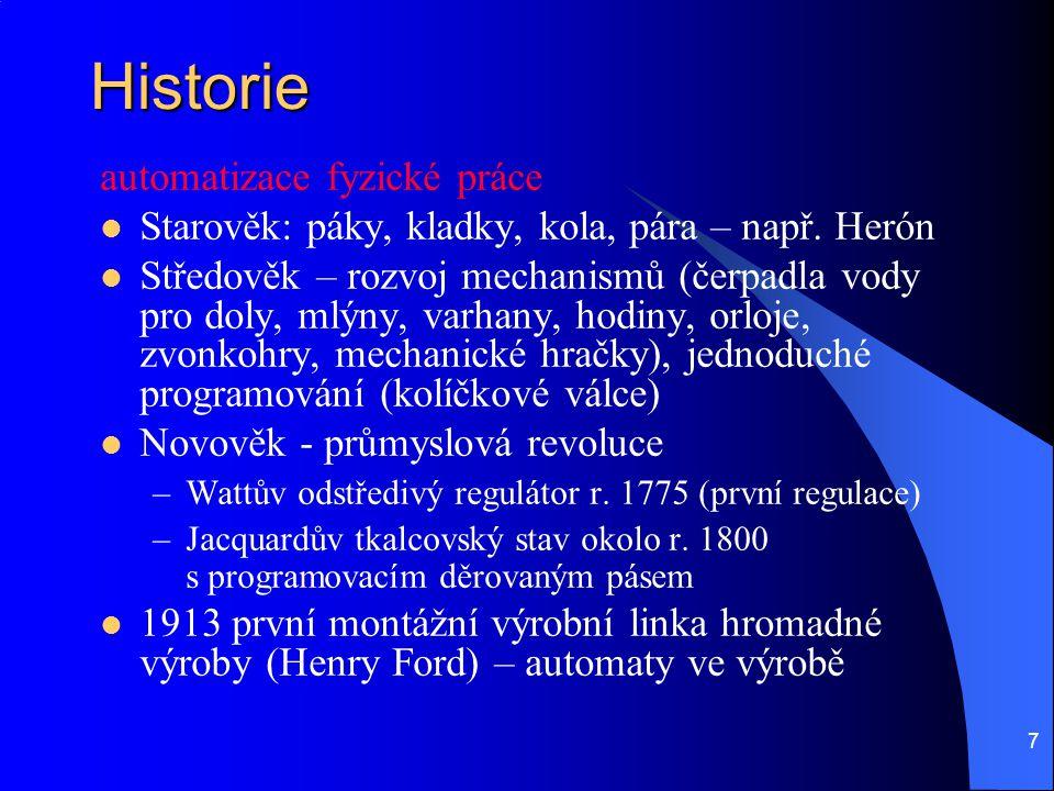 Historie automatizace fyzické práce