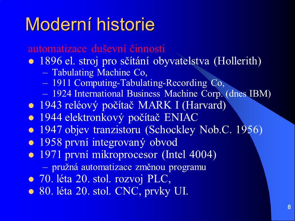 Moderní historie automatizace duševní činnosti