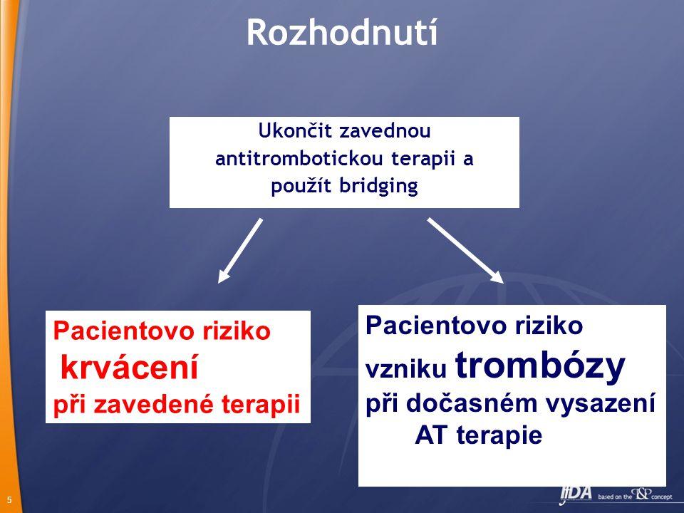 antitrombotickou terapii a