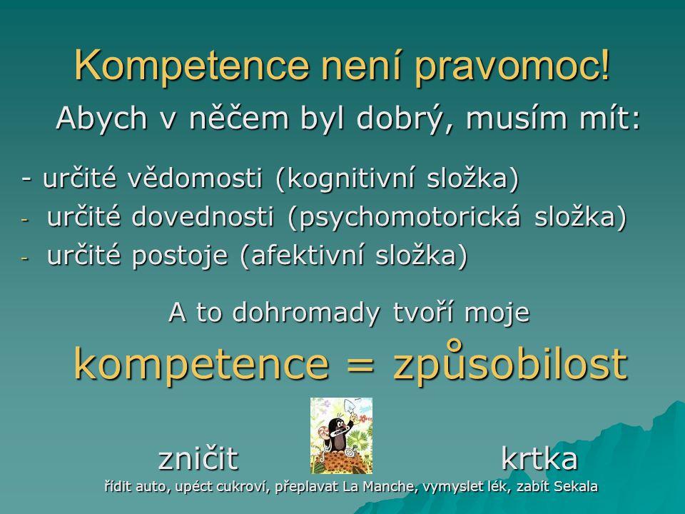 Kompetence není pravomoc!