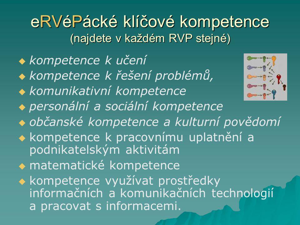 eRVéPácké klíčové kompetence (najdete v každém RVP stejné)