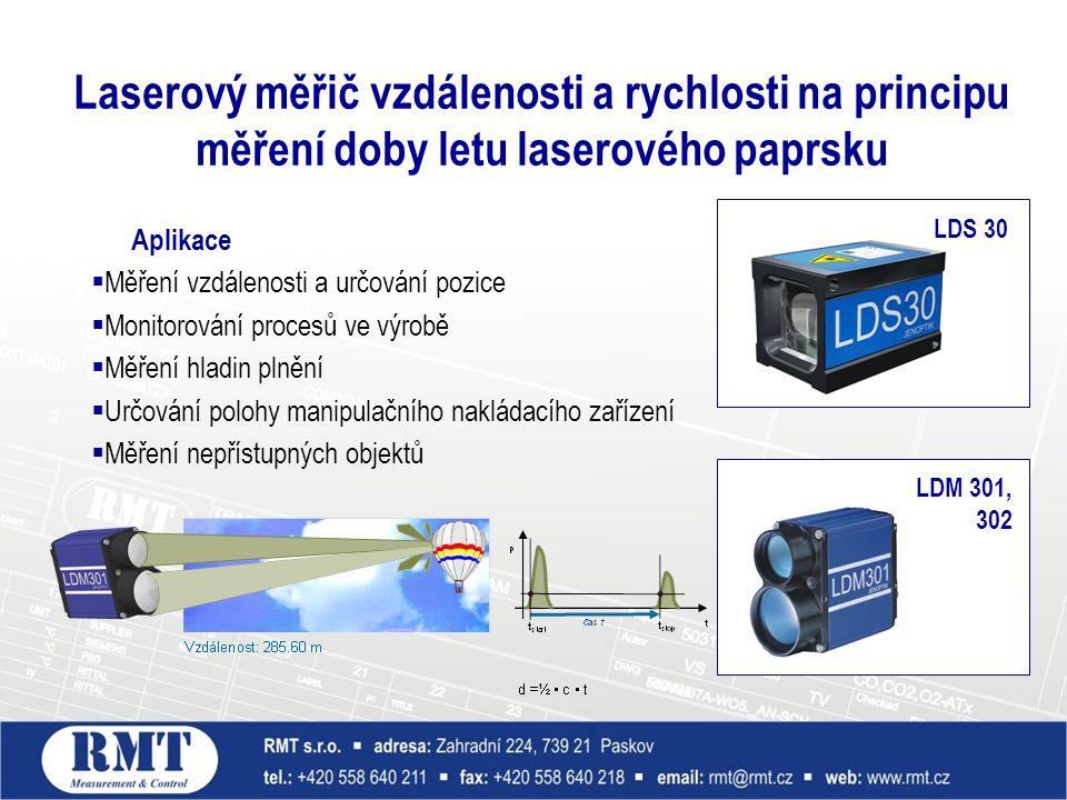 Laserový měřič vzdálenosti a rychlosti na principu měření doby letu laserového paprsku